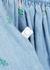 Light blue floral-embroidered chambray dress set - Stella McCartney