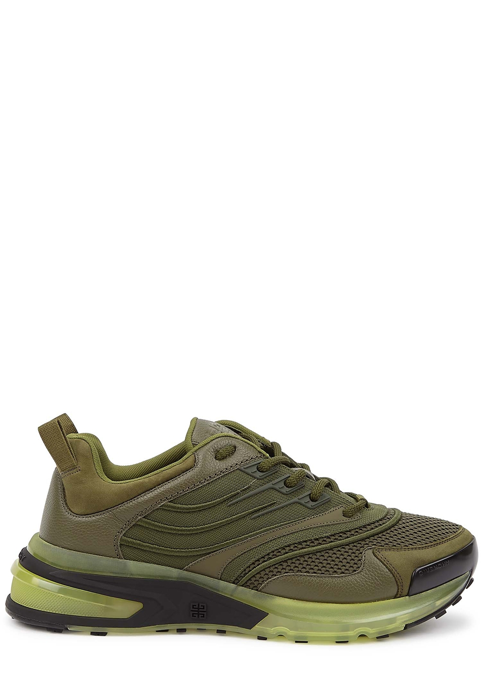 Giv 1 army green panelled sneakers