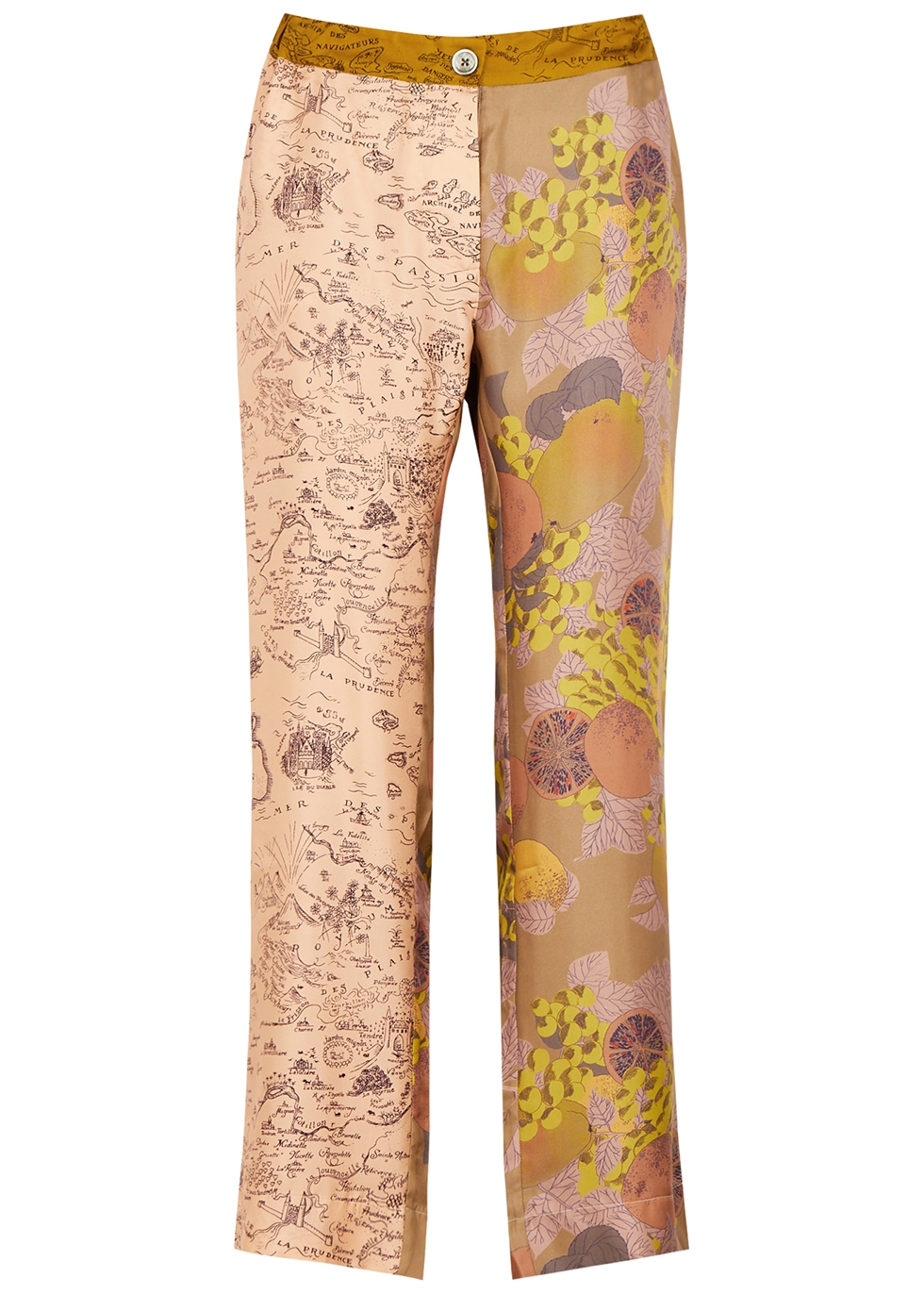 Lucky printed silk trousers