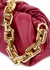 The Chain Pouch raspberry leather shoulder bag - Bottega Veneta