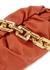 The Chain Pouch orange leather shoulder bag - Bottega Veneta