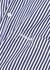 Striped asymmetric cotton shirt - Balenciaga