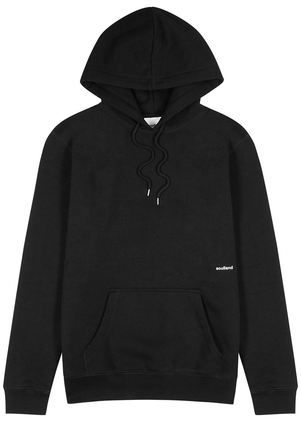 Wallance black hooded jersey sweatshirt