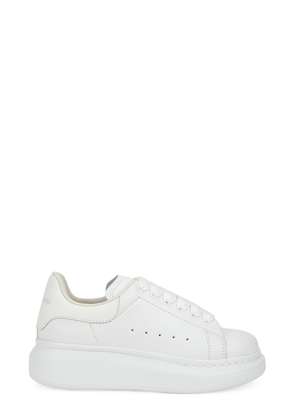 Larry white glow-in-the-dark leather sneakers