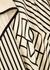 Striped silk crepe de chine sarong - Totême