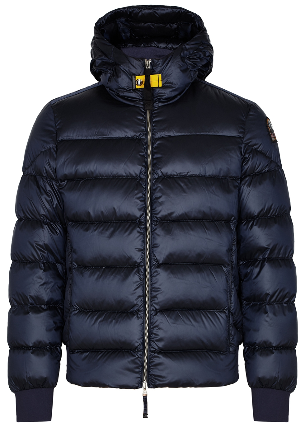 Pharell navy quilted shell jacket