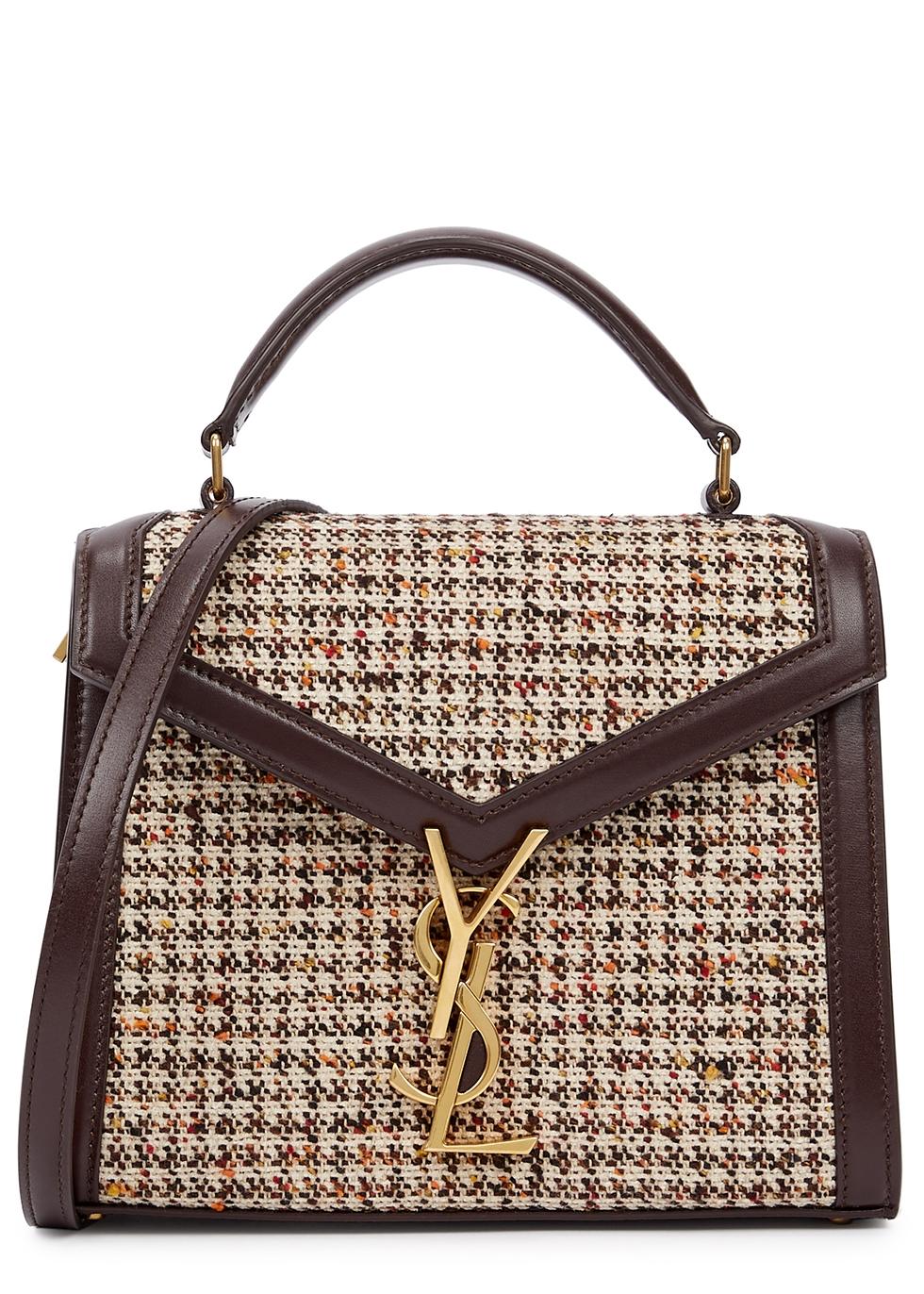 Cassandra mini tweed top handle bag