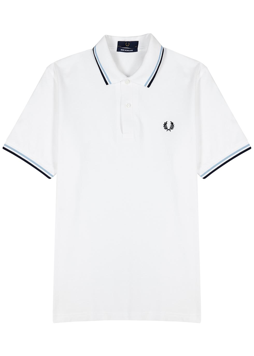 M3600 white piqué cotton polo shirt