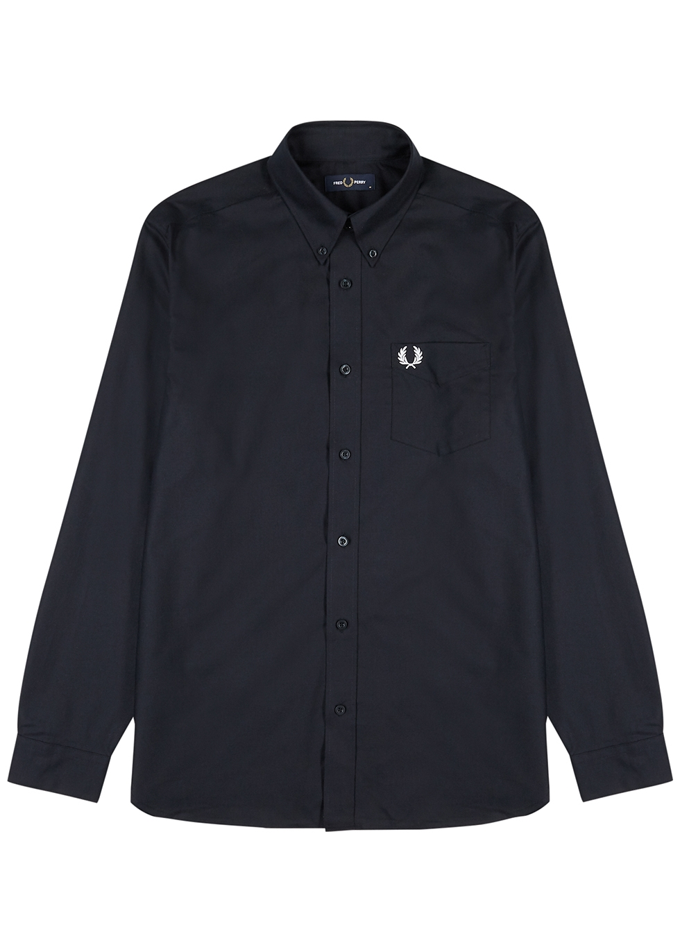 M8501 navy cotton Oxford shirt