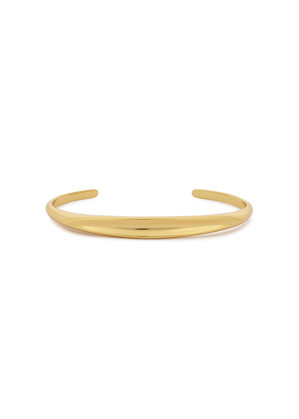 Groove 14kt gold-dipped cuff bracelet