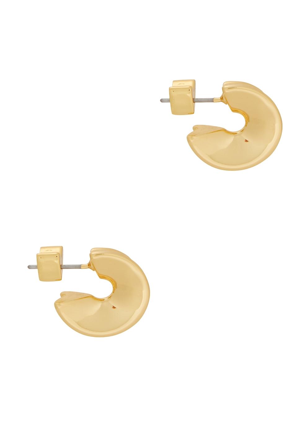 Hidden Heart 14kt gold-dipped hoop earrings