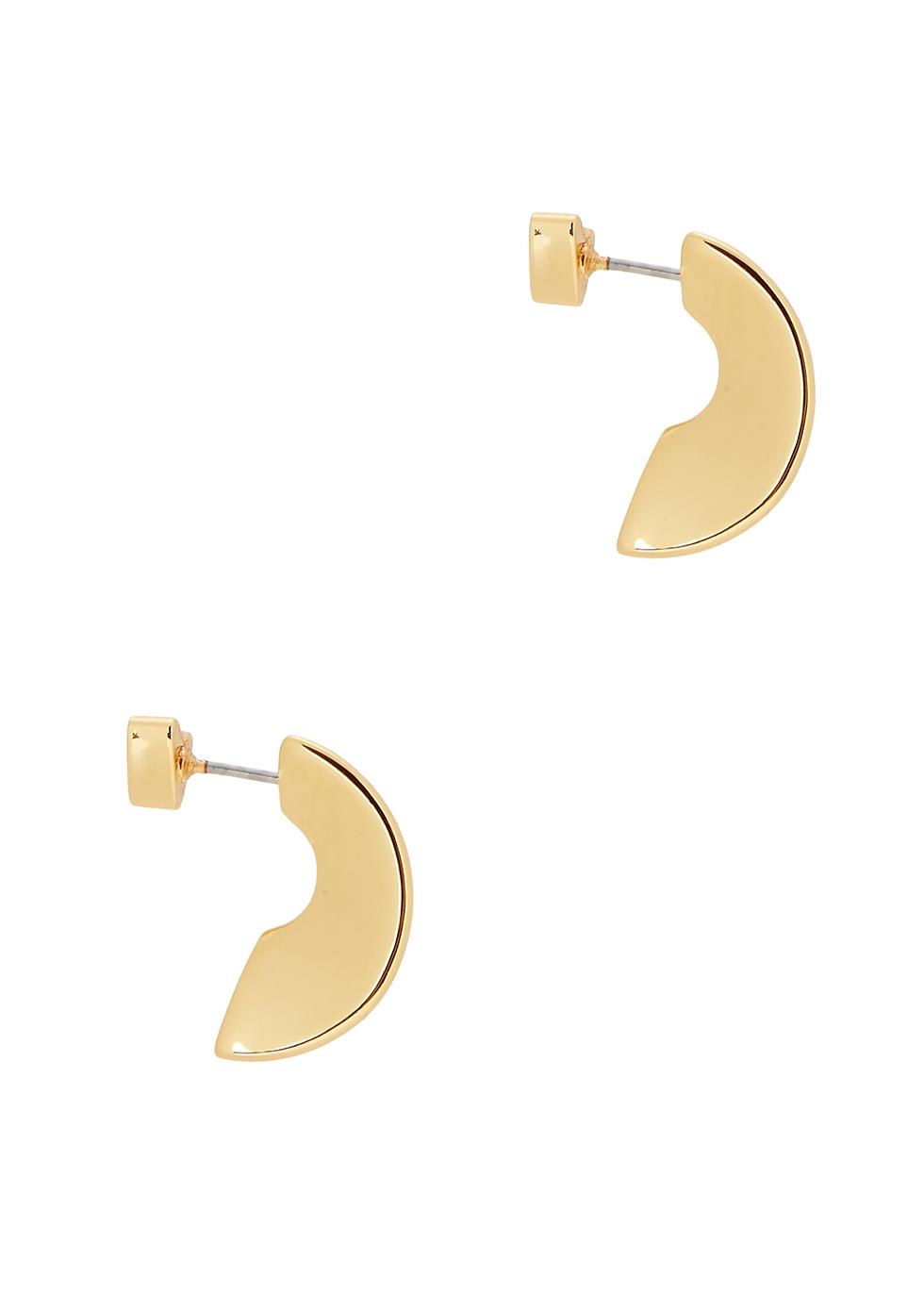 Hidden Heart 14kt gold-dipped earrings