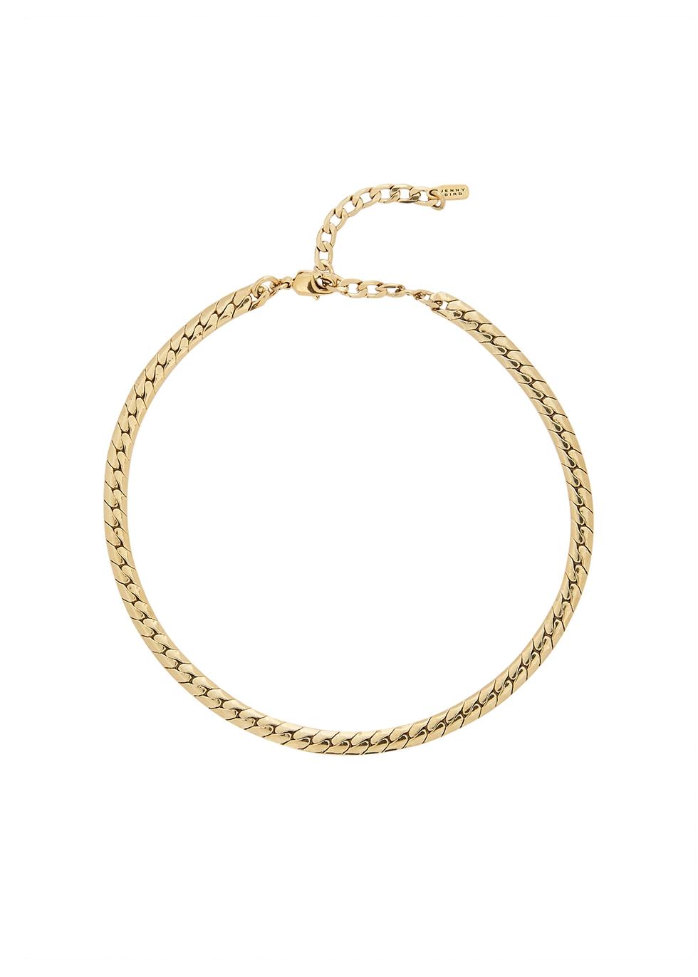 Priya 14kt gold-dipped chain anklet