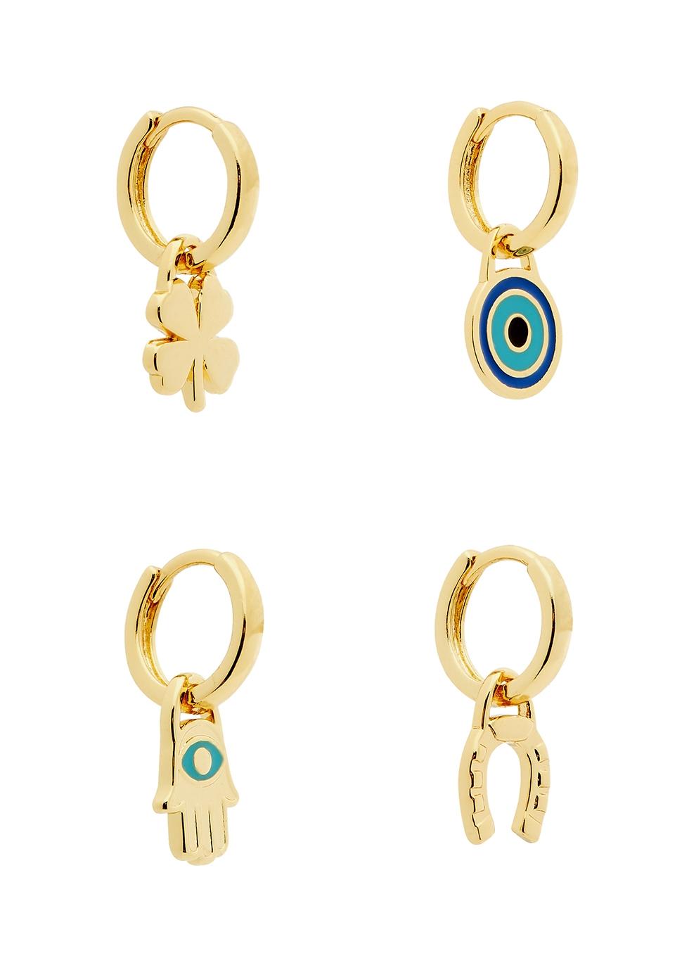 Fortuna 14kt gold-dipped hoop earrings