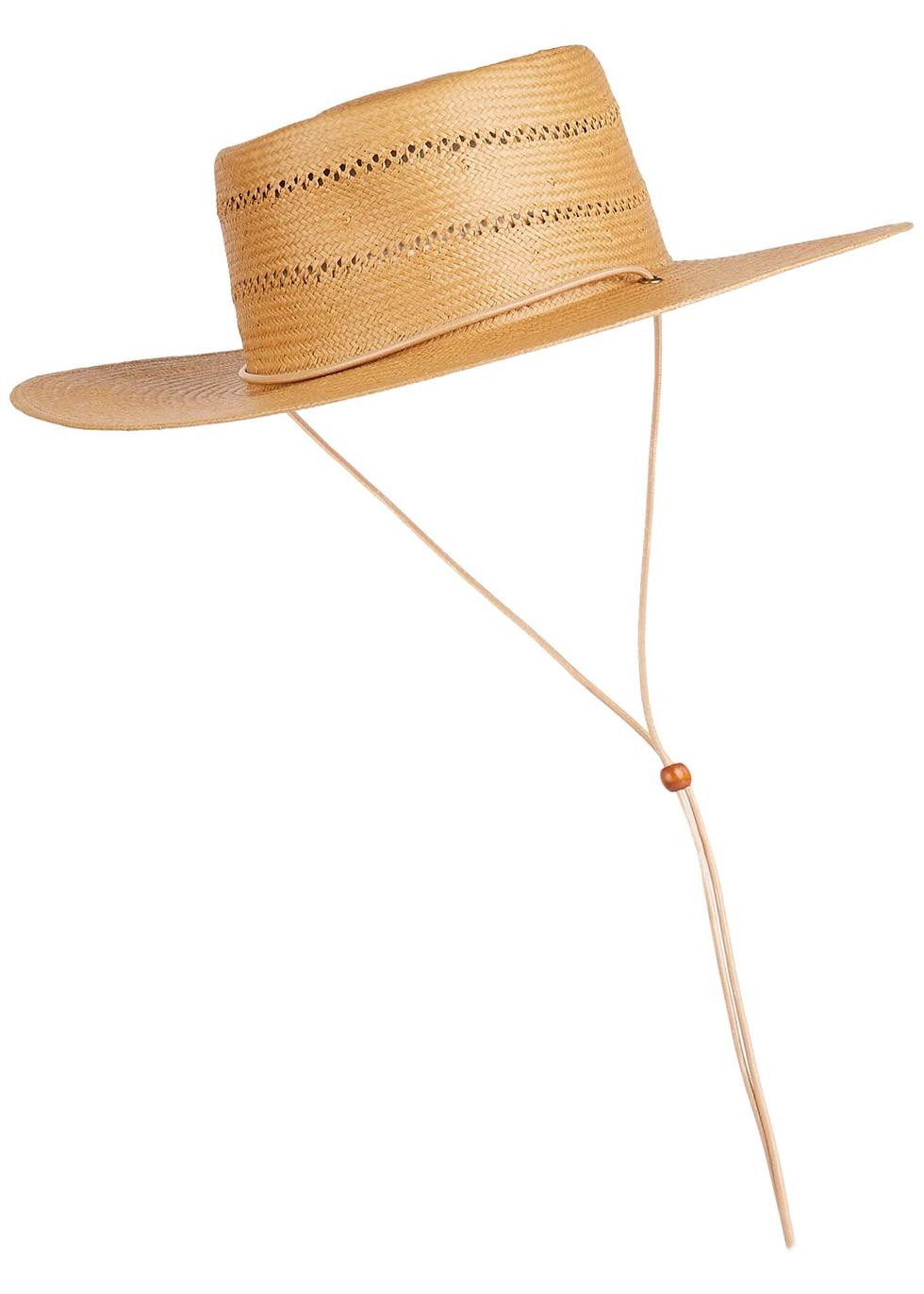 Jacinto camel straw sun hat