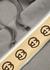 Grey logo-trimmed hooded cotton sweatshirt - Gucci