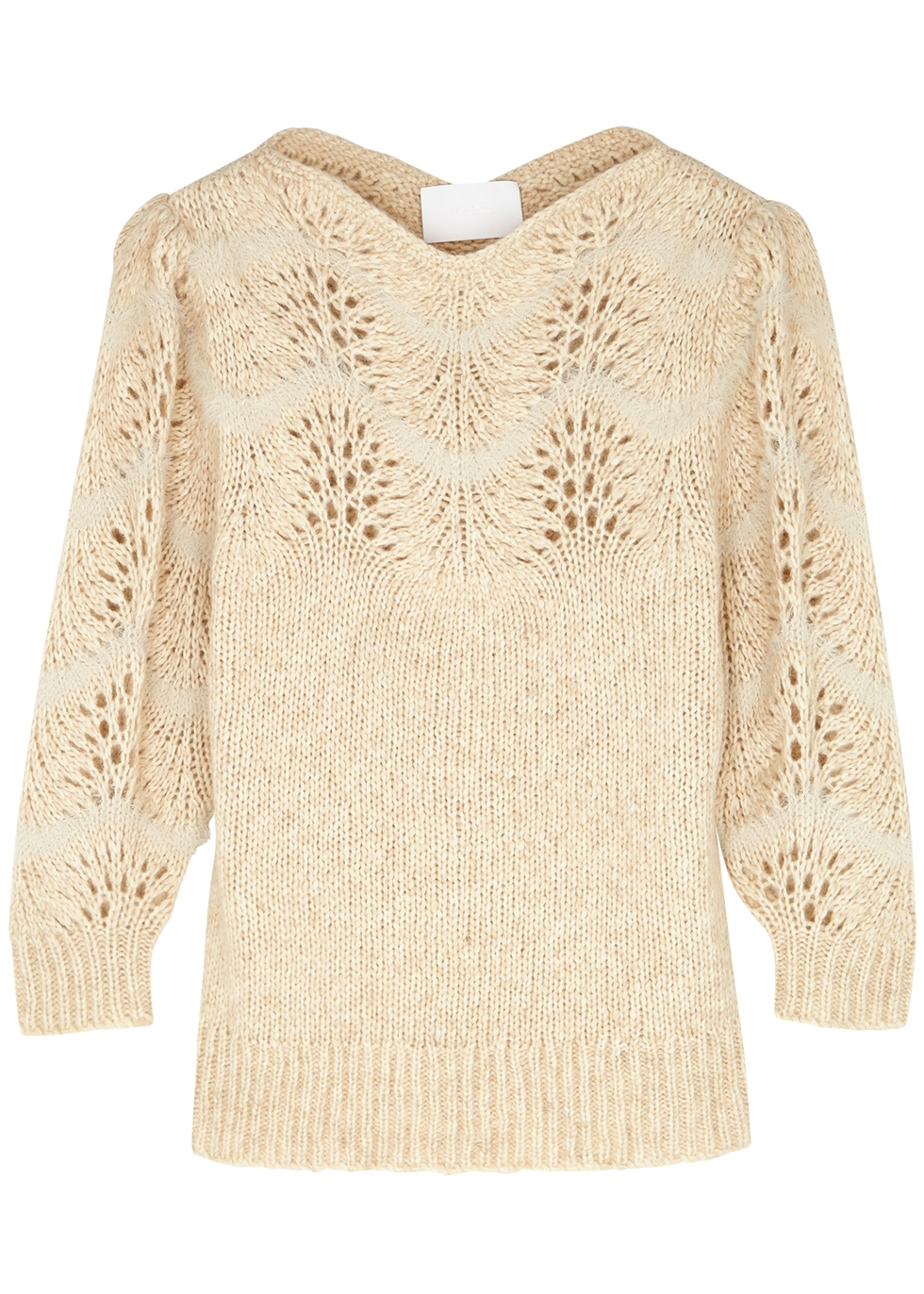 Philemon blush pointelle-knit jumper