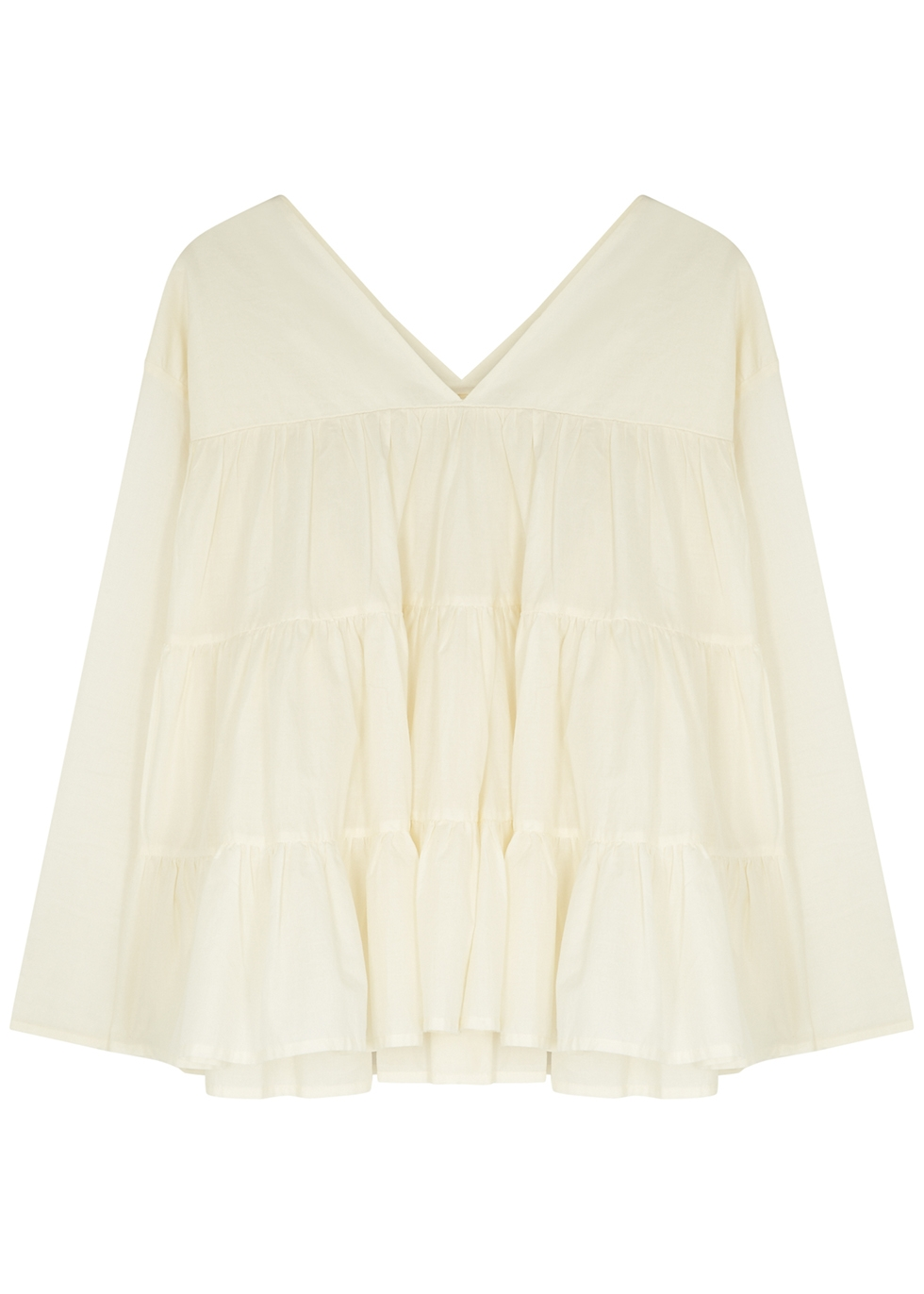 Sidonia tiered cotton blouse