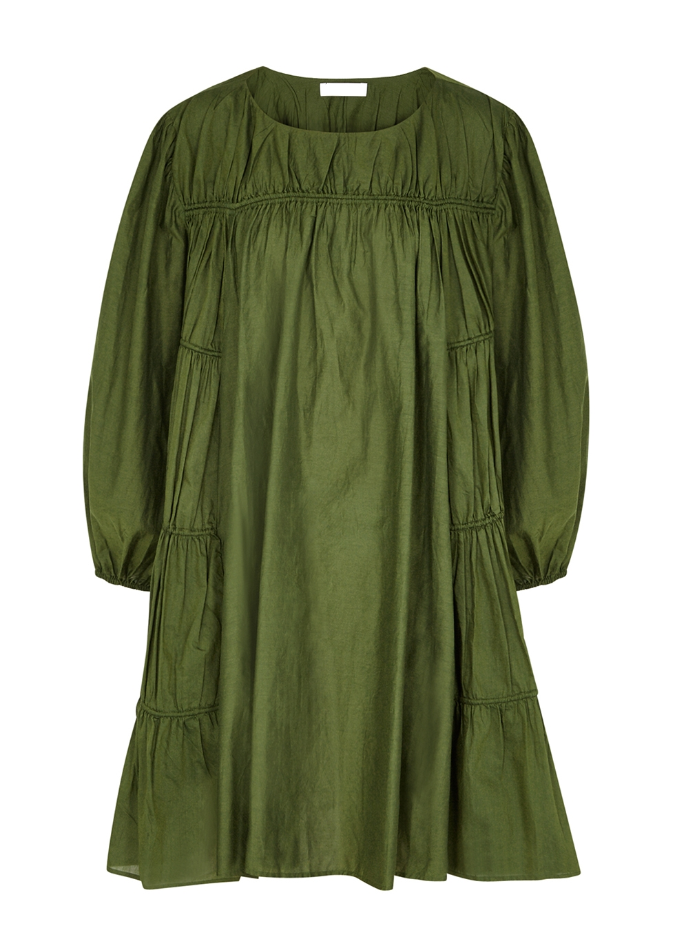 Tiddal green cotton-blend mini dress