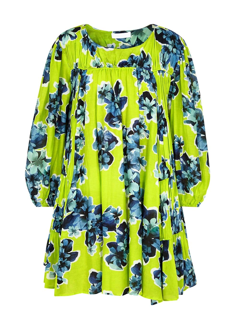 Siddal floral-print cotton-blend mini dress