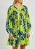 Siddal floral-print cotton-blend mini dress - MERLETTE