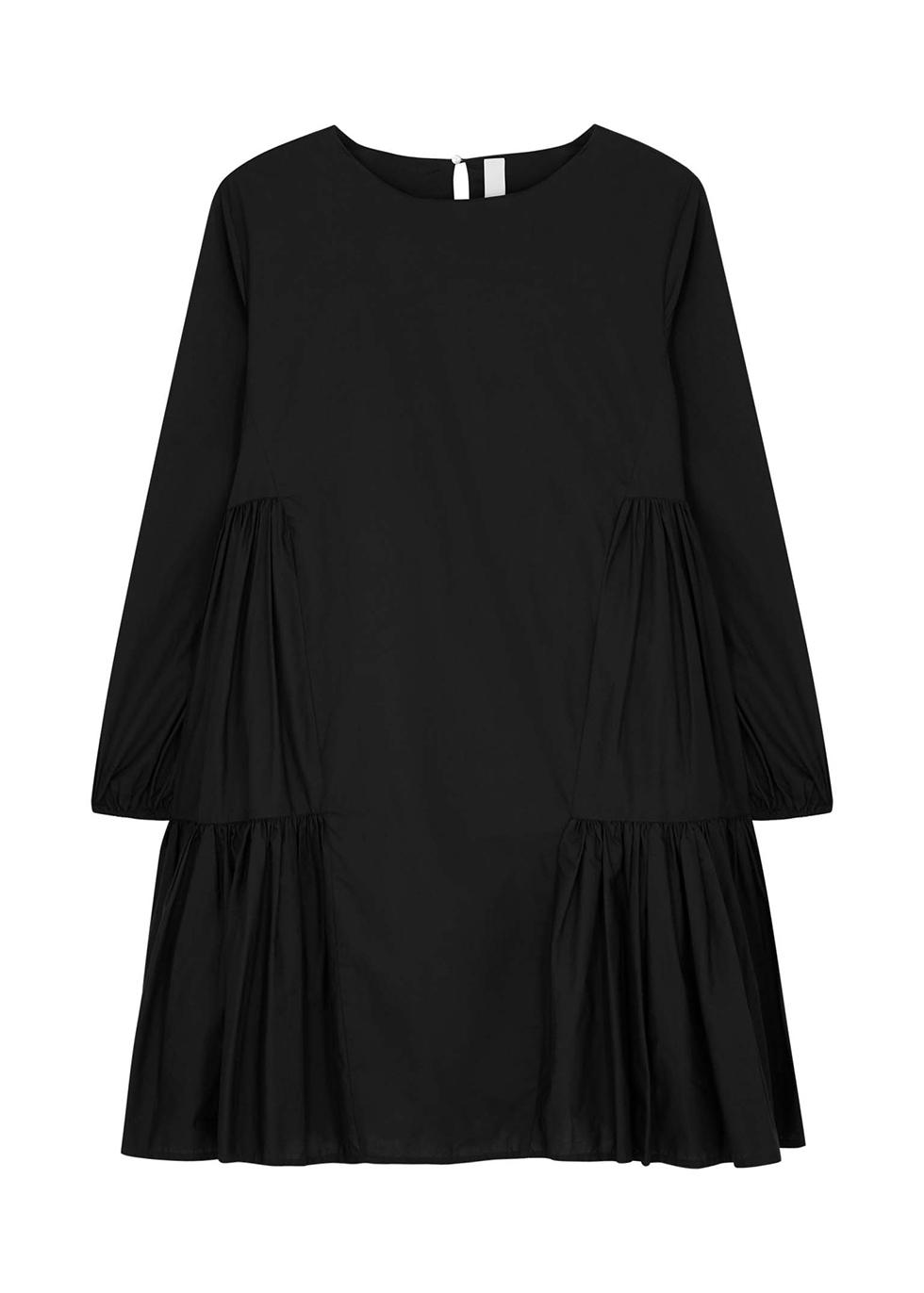 Byward black cotton mini dress