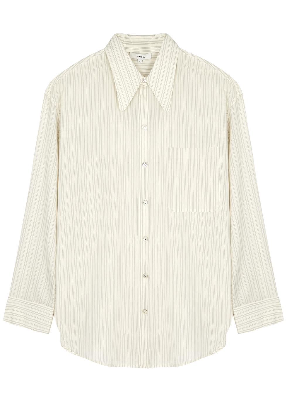 Ivory pinstriped shirt