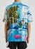 Printed satin shirt - Blue Sky Inn