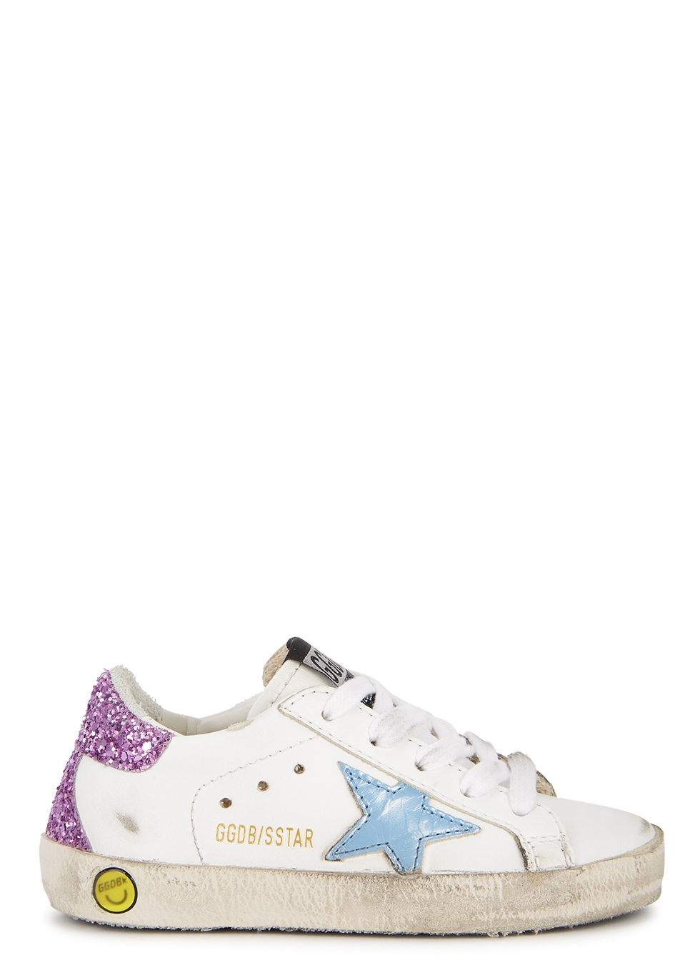 Superstar distressed leather sneakers (IT22-IT27)