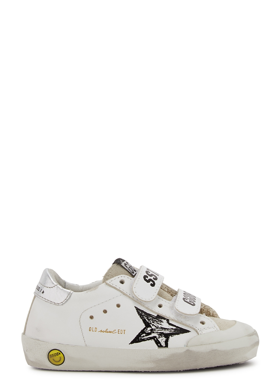 Old School white distressed leather sneakers (IT20-IT27)