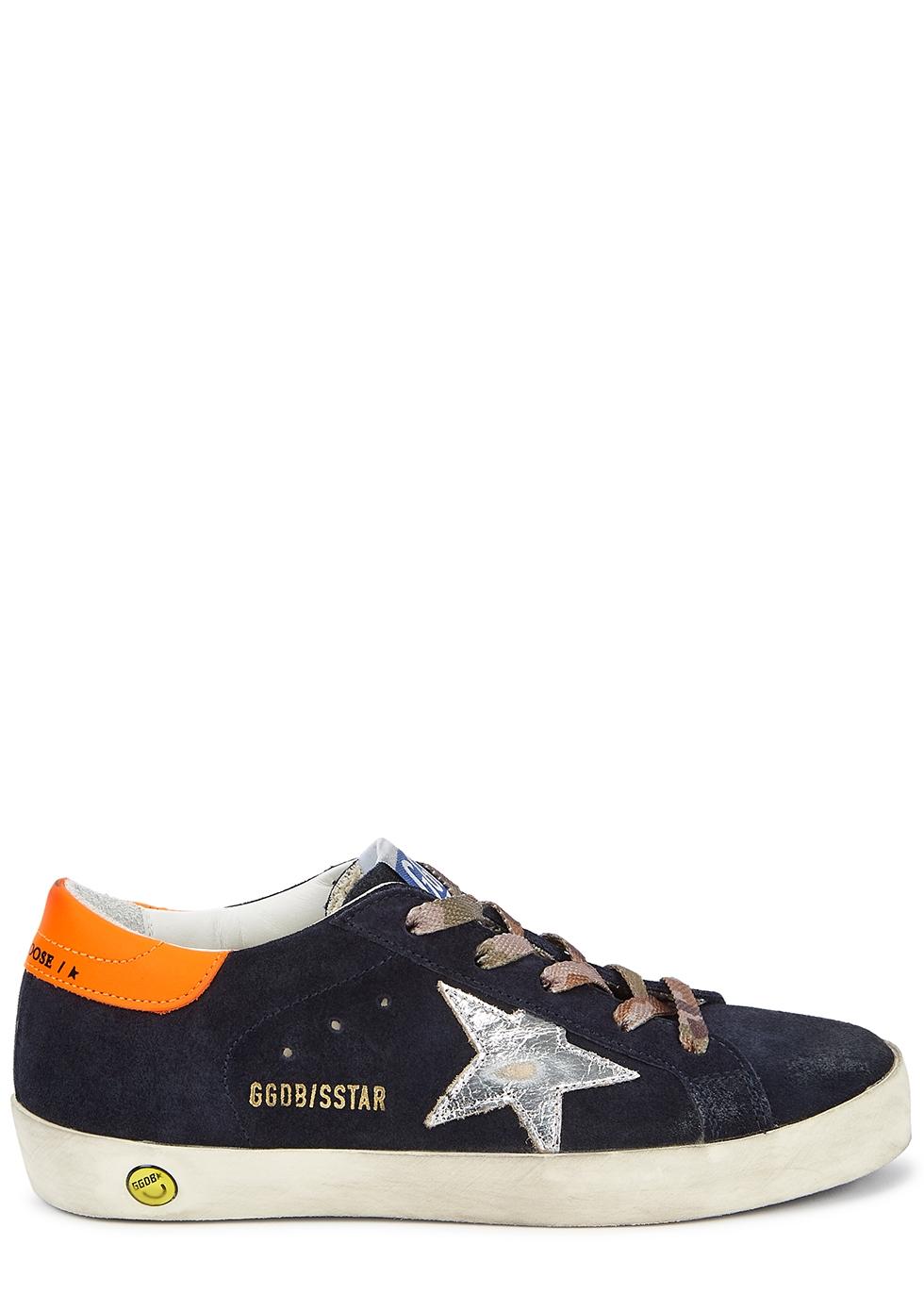 Superstar navy suede sneakers (IT28-IT35)