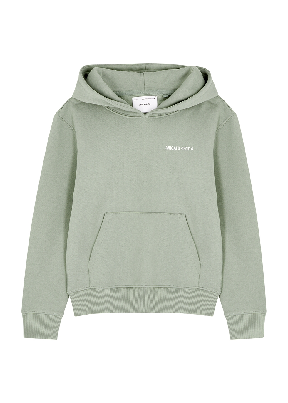 London sage hooded cotton sweatshirt