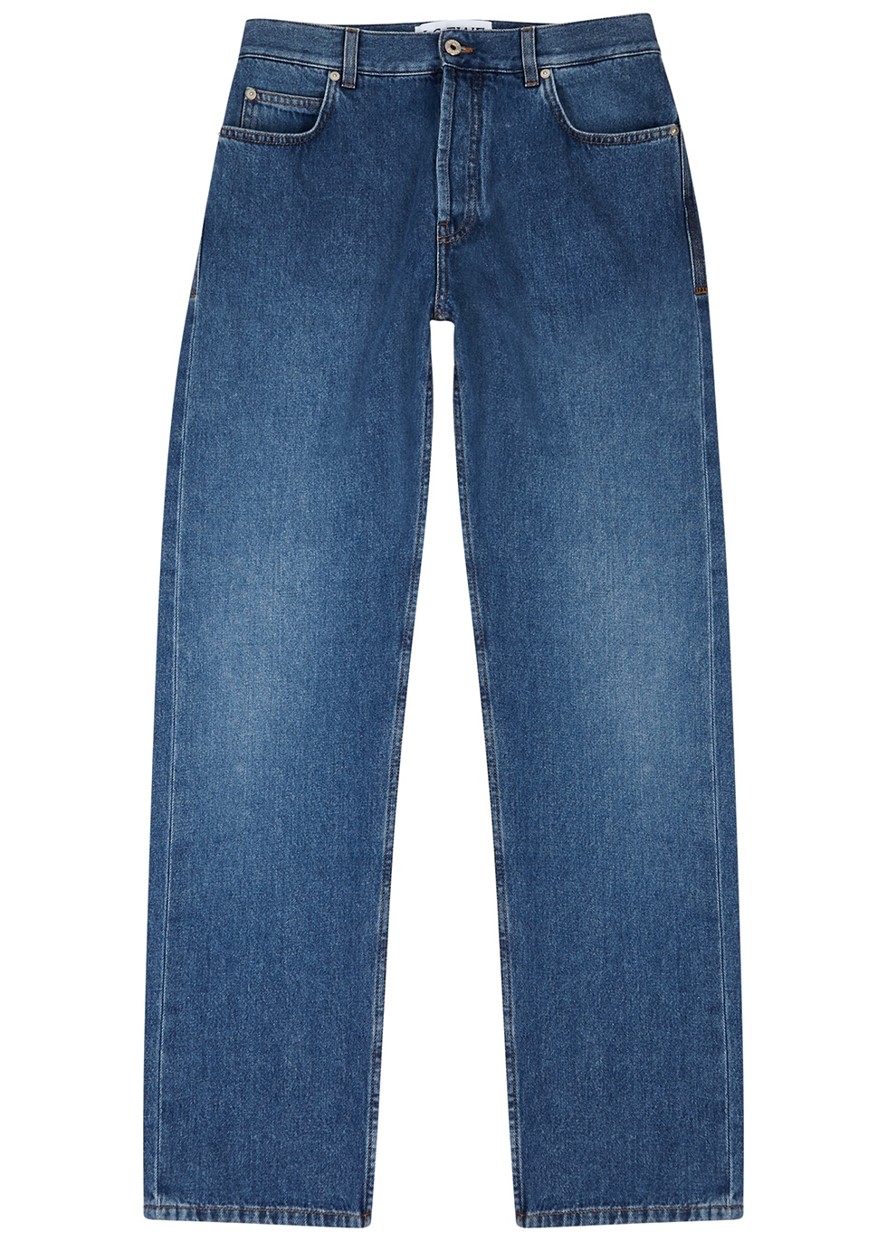 Blue logo tapered jeans