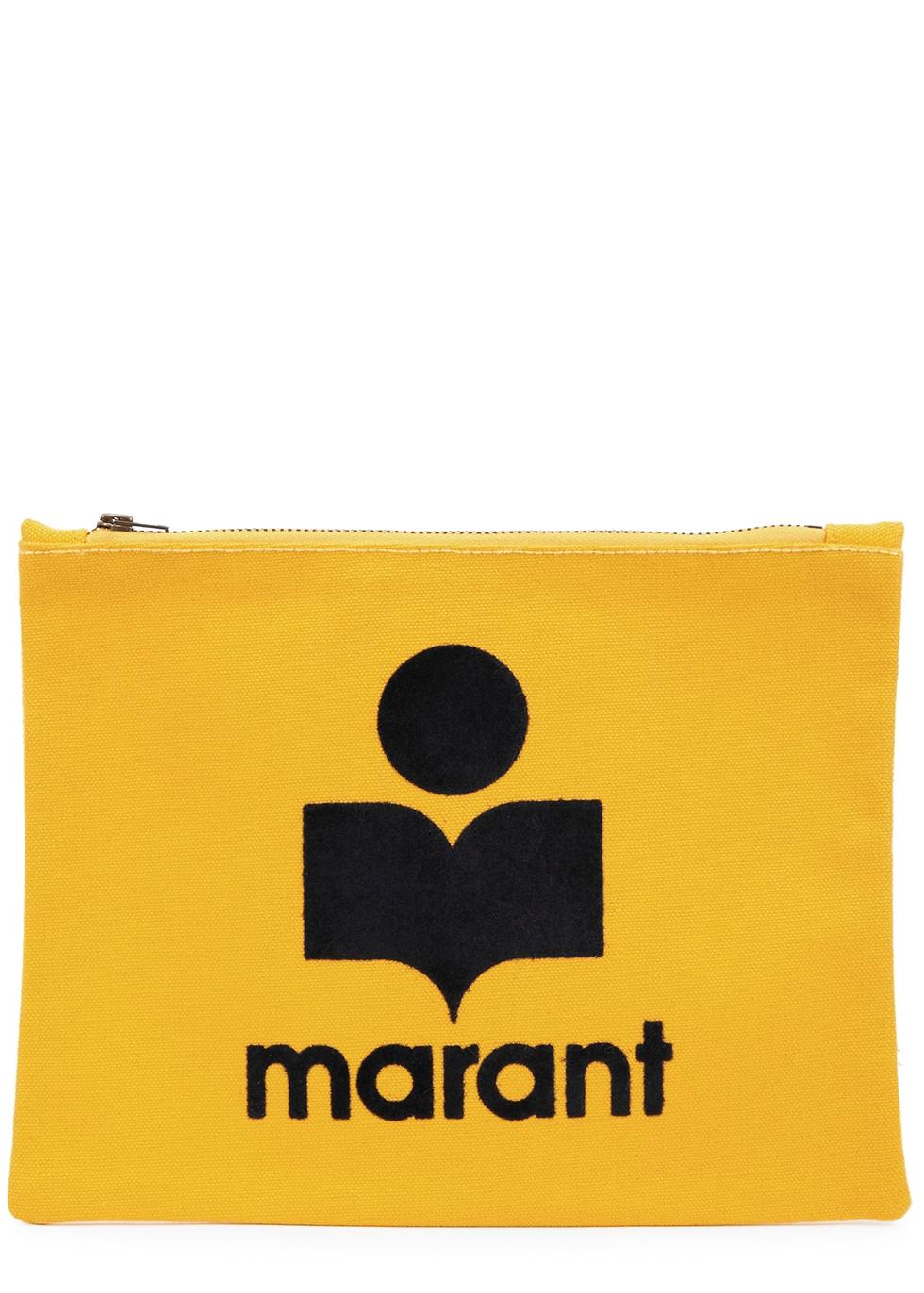 Nettia yellow logo canvas pouch