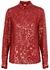 Chow red sequin-embellished shirt - Dries Van Noten