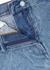 Silvana blue marbled denim midi skirt - Dries Van Noten