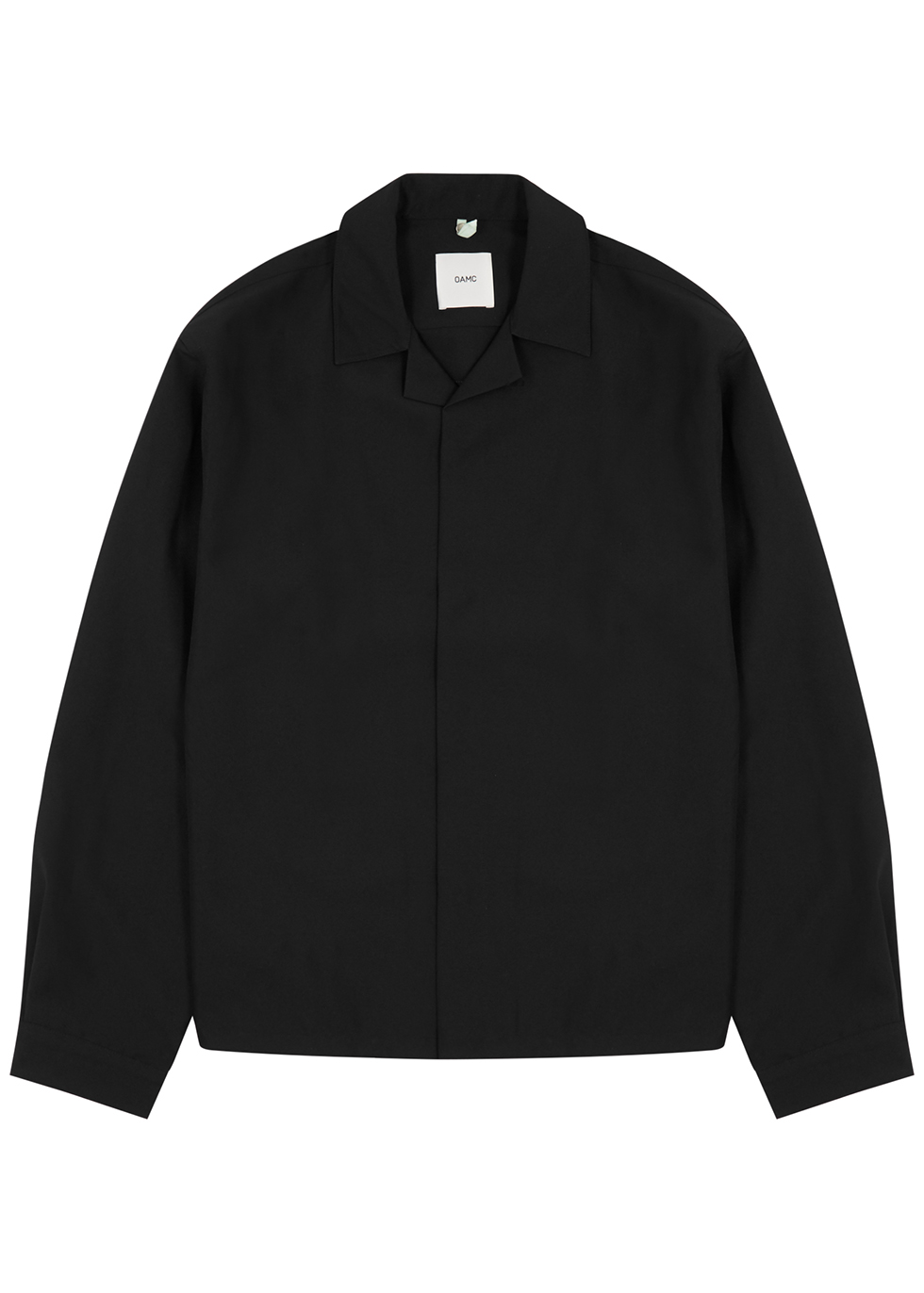 System black printed overshirt