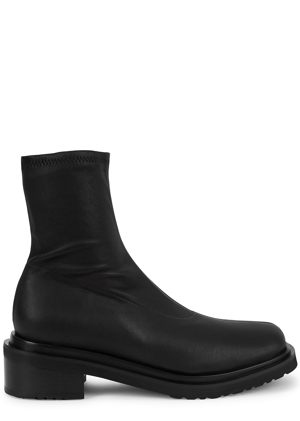 Kah black leather ankle boots