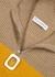 Striped half-zip ribbed wool jumper - JW Anderson