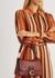 Soft Tabby burgundy leather shoulder bag - Coach