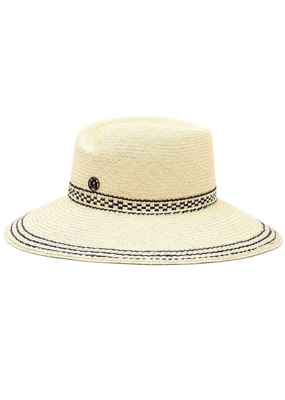 Virginie sand straw panama hat