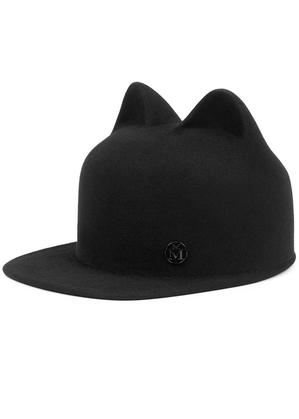 Jamie black felt hat