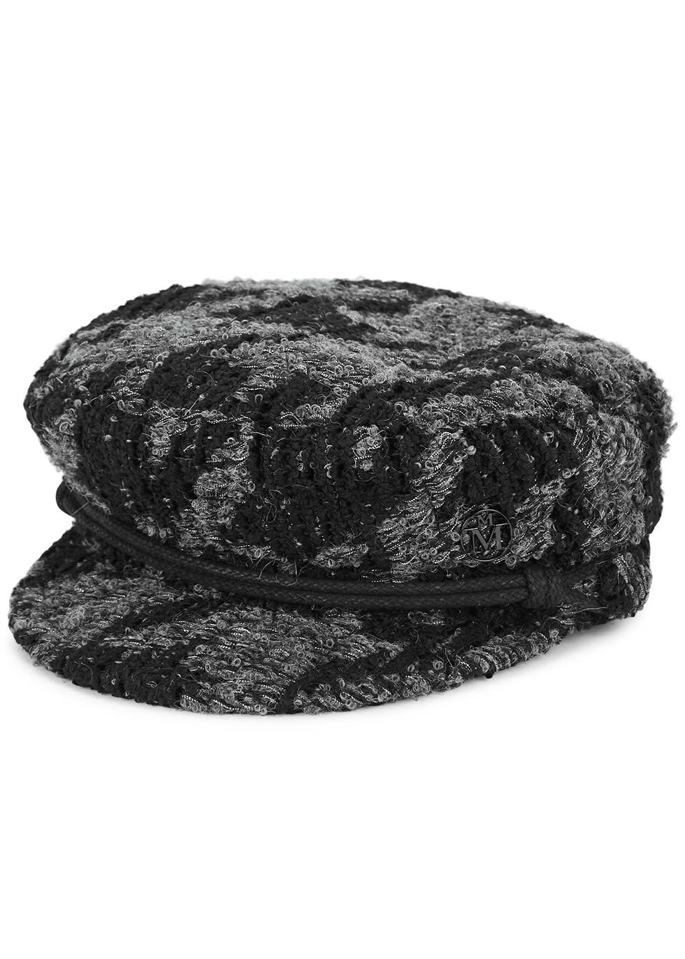 New Abby black tweed cap