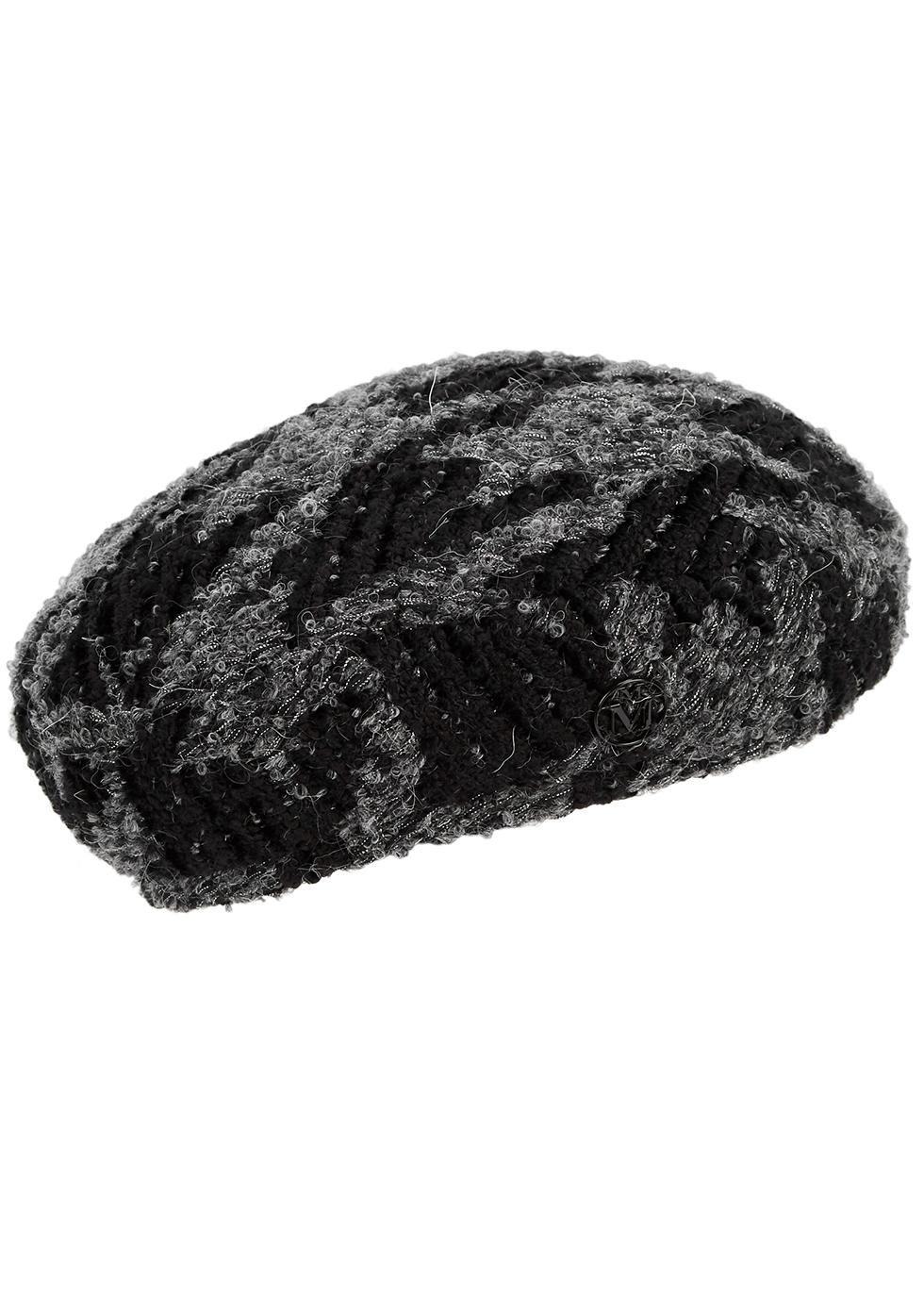 Fiore metallic-weave bouclé tweed beret