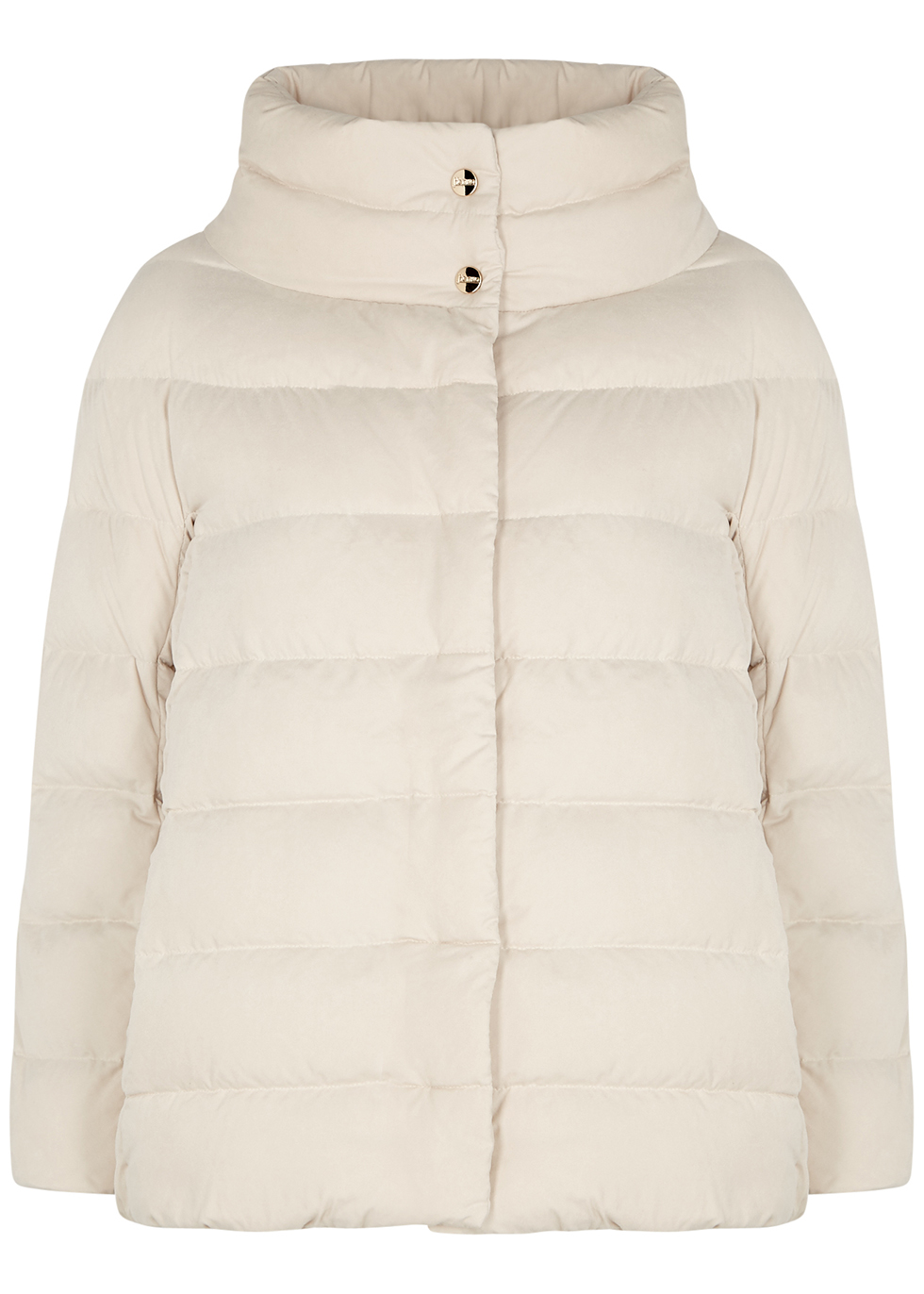 Eolo cream quilted faux suede jacket