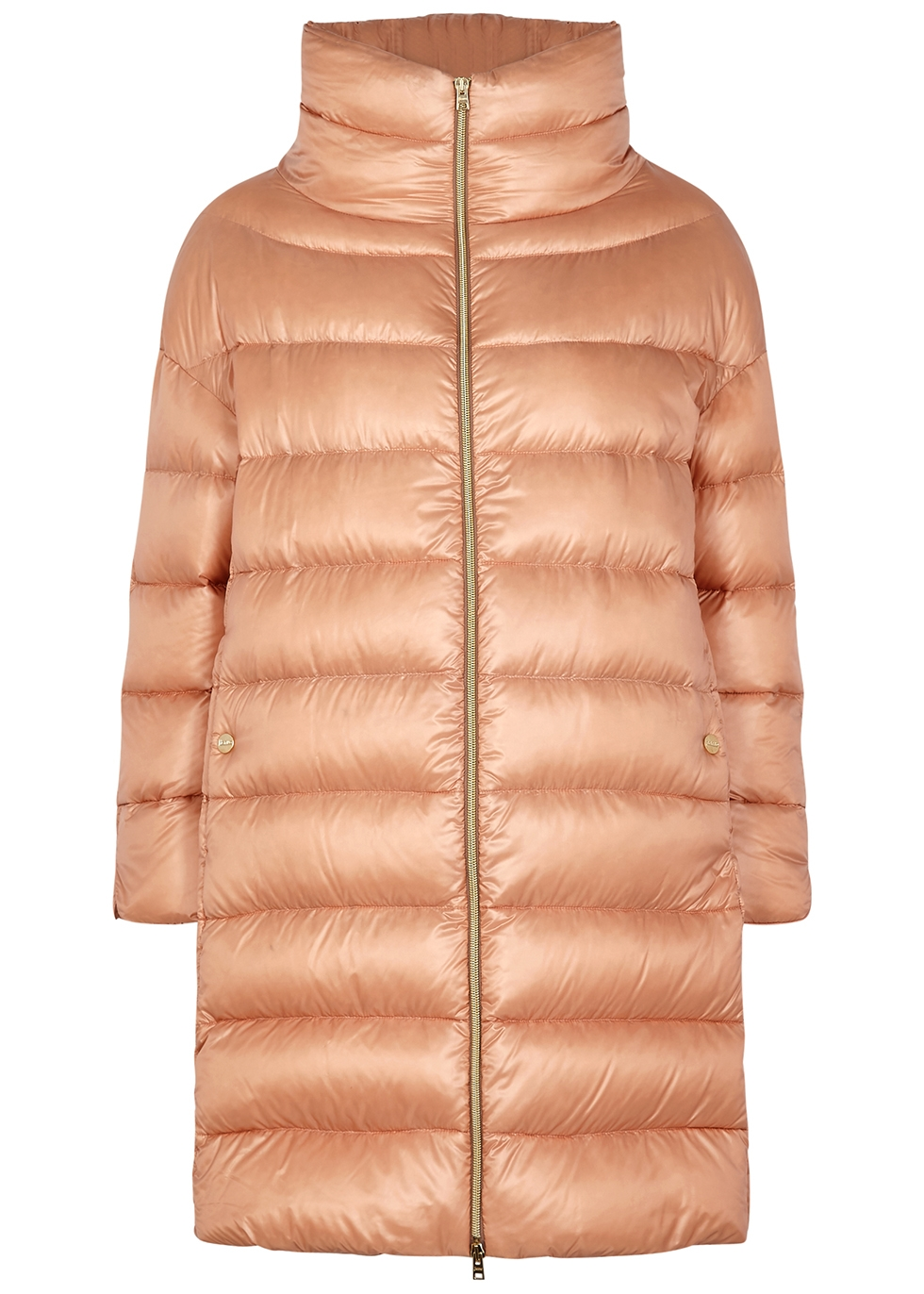 Ultralite blush quilted shell coat