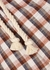 Salika checked cotton-blend shorts - Veronica Beard