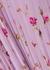 Lilac floral-print chiffon midi dress - RED Valentino