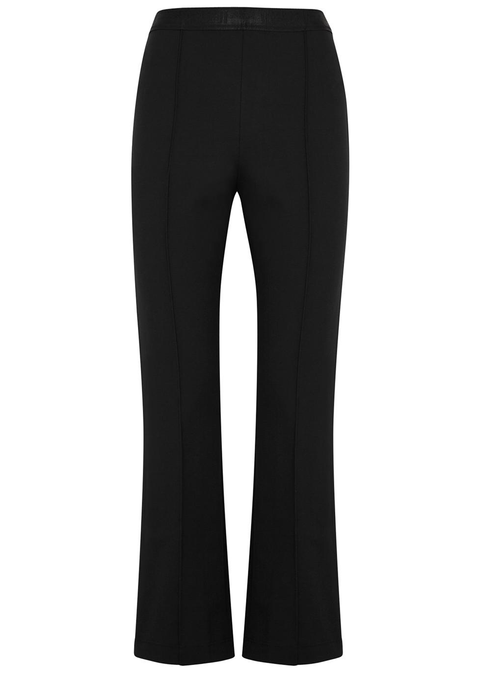 Grazia black kick-flare trousers
