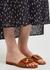 Signature brown leather sliders - Fendi